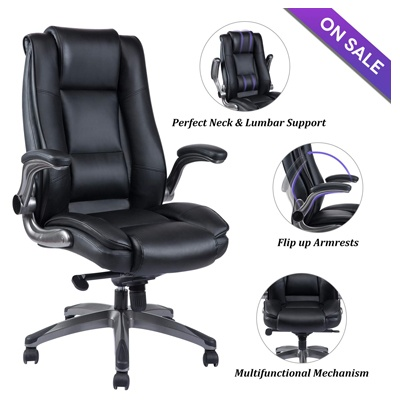 9. VANBOW High Back Leather Office Chair