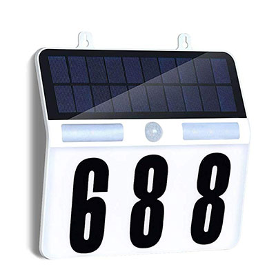 2. FORUP Solar Lighted House Numbers