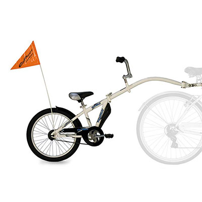 Bike Trailer Riding Kids Child Bicycle Seat Tandem Ride Along Attachment Safety