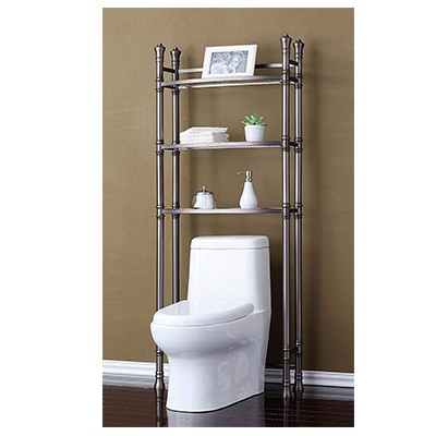 7. Best Living Monaco Bathroom Etagere Shelf – Brushed Titanium