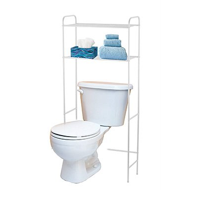 1. Home Basics 2 Tier Over The Toilet Bathroom Space Saver