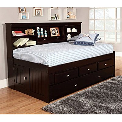 7. Discovery World Furniture 6 Drawers Espresso Daybed – Twin