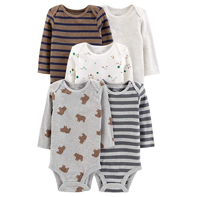 5. Simple Joys by Carter's Baby Boys' 5-Pack Long-Sleeve Bodysuit