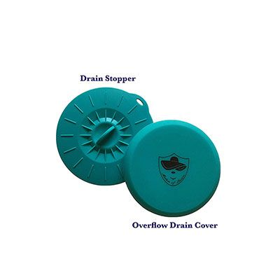 4. Madam of Leisure Bathtub Overflow Drain Cover and Tub Drain Stopper