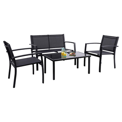 9. Flamaker 4 Pieces Patio Furniture Outdoor Furniture Outdoor Patio Furniture Set