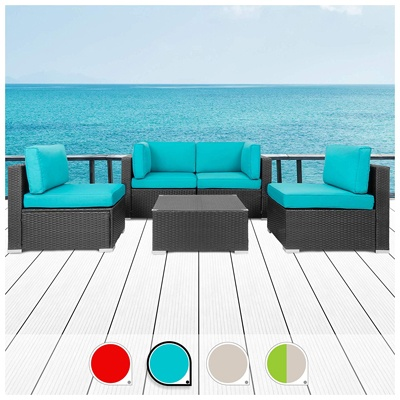 7. Walsunny 5pcs Patio Outdoor Furniture Sets