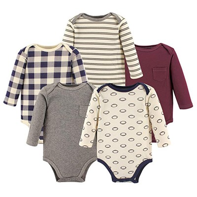 2. Hudson Baby Unisex Baby Long Sleeve Cotton Bodysuits