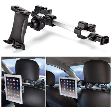 2. iKross Car Tablet Mount Holder Universal Backseat Headrest Extendable Mount