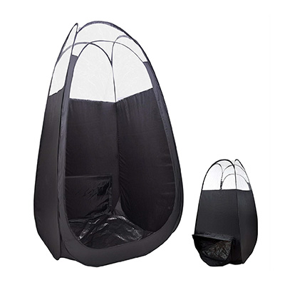 10. AW Pop Up Black Airbrush Spray Tanning Tent