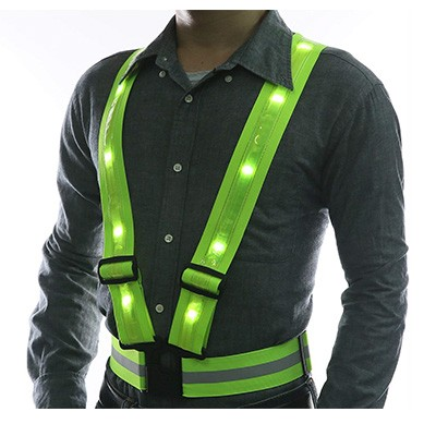 3. LED Reflective Vest by Glowseen for Outdoor Activities