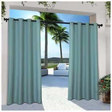 1. Exclusive Home Curtains Indoor/Outdoor Solid Cabana, Teal
