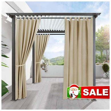 9. RYB HOME Outdoor Curtains for Patio