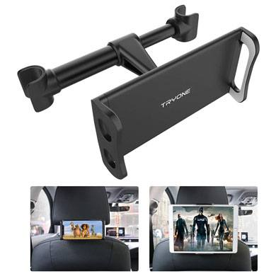 4. Car Headrest Mount, Tryone Tablet Headrest Holder