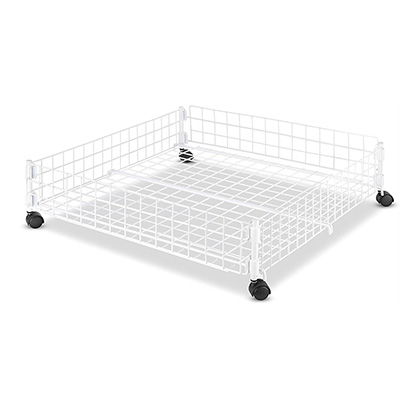 4. Whitmor White Wire Rolling Underbed Cart