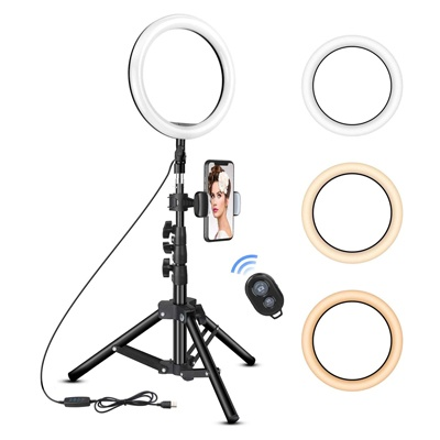1. Rovtop 10 inch Ring Light with Stand Tripod