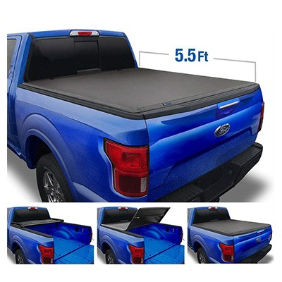 10. Tyger Auto Top Soft 5.5' Bed Truck Tonneau Cover