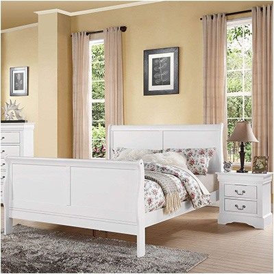 8. ACME Furniture Bed, Full, White