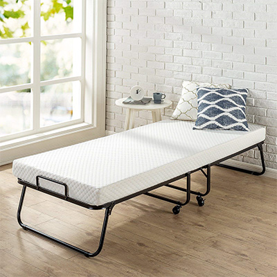 6. Zinus Roll Away Folding Guest Bed