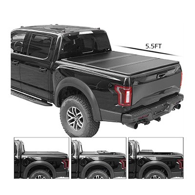 4. TURBO SII Tri-Fold Truck Bed Tonneau Cover