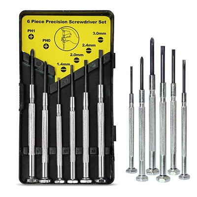 7. 6PCS Mini Screwdriver Set with Case by keama