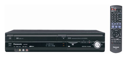 Panasonic DMR-EZ48VP-K Built-In Tuner 1080p DVD Recorder UpConverting