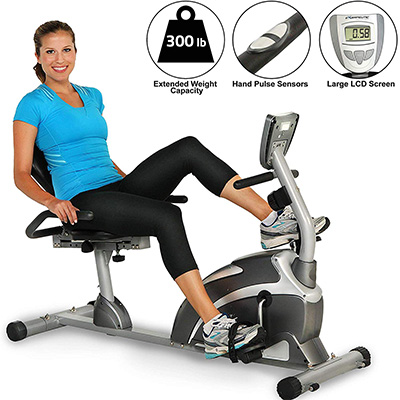 2. Exerpeutic 900XL Recumbent Exercise Bike