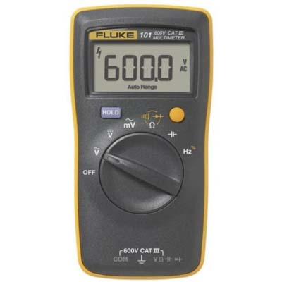 7. Fluke 101 Basic Pocket Portable Digital Multimeter