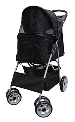 Vivo Foldable Dog Stroller Four Wheels Multiple Colors