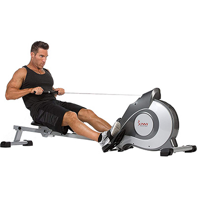 2. Sunny Health and Fitness SF-RW5515 Rowing Machine