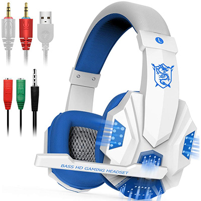 1. Dland PC780-W Gaming Headsets