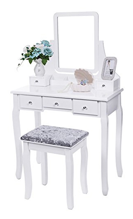 Bewishome FST01W Vanity Set Movable Organizers