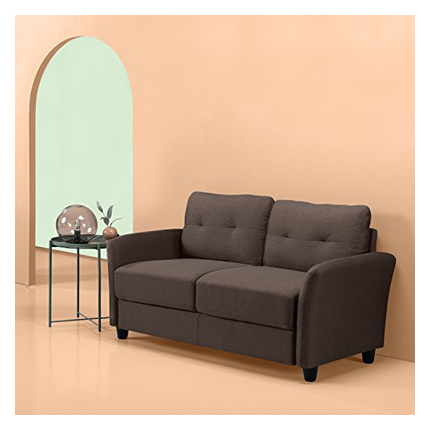 Zinus Ricardo Contemporary Upholstered 62.2 Inch Couch / Loveseat