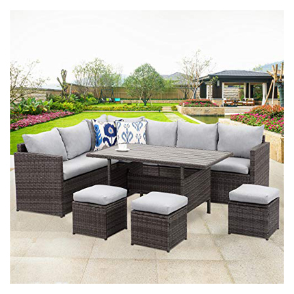 Wisteria Lane Patio Furniture Set - Curved Outdoor Sofas