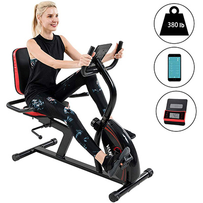 9. Vanswe 16-level Recumbent Bike