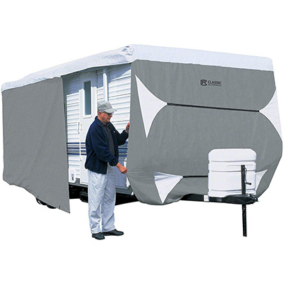 1. Classic Accessories PolyPro 3 Travel Trailer Cover