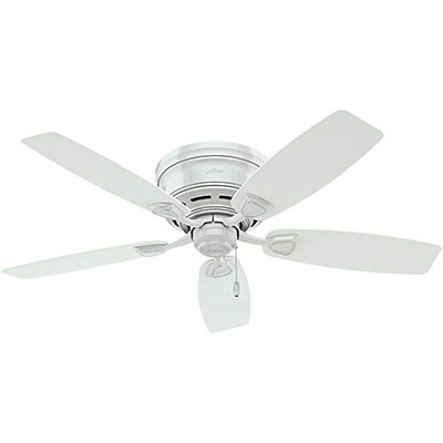 5. Hunter Indoor / Outdoor Low Profile Ceiling Fan, 53119