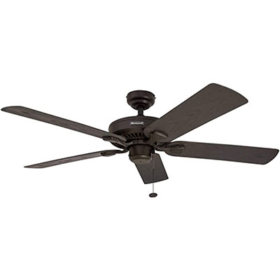 6. Honeywell Belmar 52-Inch Indoor/Outdoor Ceiling Fan