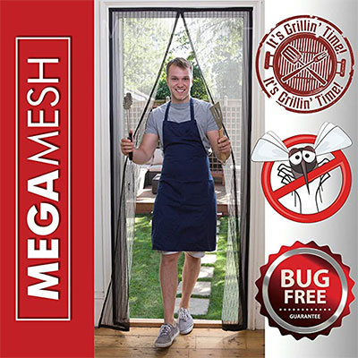 8. Megamesh Magnetic Screen door by easy install