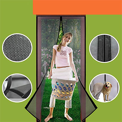 4. Homearda Magnetic Screen Door Fiberglass