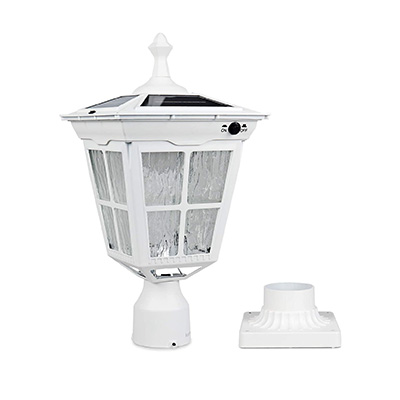 8. Kemeco LED Cast Aluminum Solar Post Light Fixture (ST4311AQ)