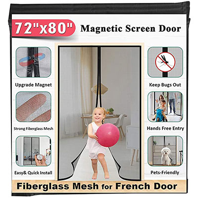 3. 72 by 80-inch Fiberglass Magnetic Screen Door - Mkicesky