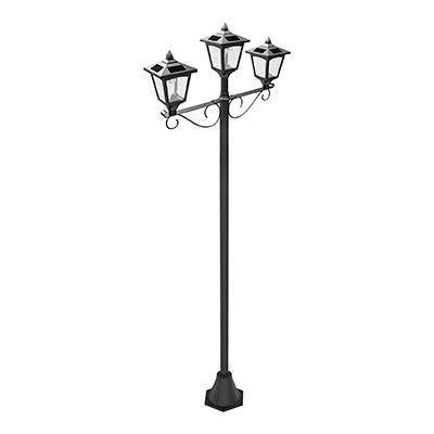 "1. Solar Smart Creations 72"" Triple Head Lamp Post"