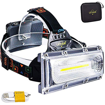5. LETOUR 8000 Lumen Rechargeable Headlamp