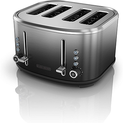 10. BLACK+DECKER TR4310FBD Extra-Wide Slot Toaster