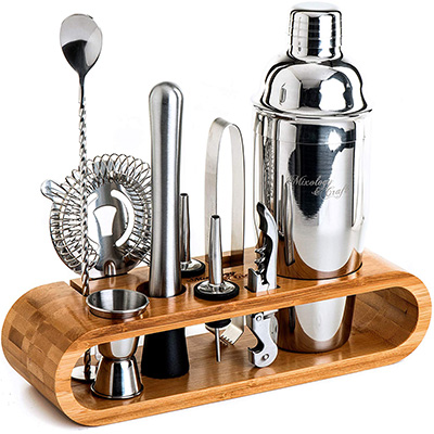 1. Mixology & Craft 10-Piece Bartender Kit