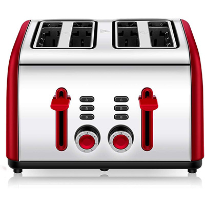 3. Cuisinaid 4 Wide Slot Toaster