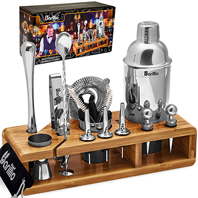 6. Barillio Elite 23-Piece Bartender Kit