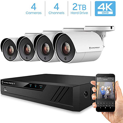 7. Amcrest 4K Security Camera 4CH 8MP
