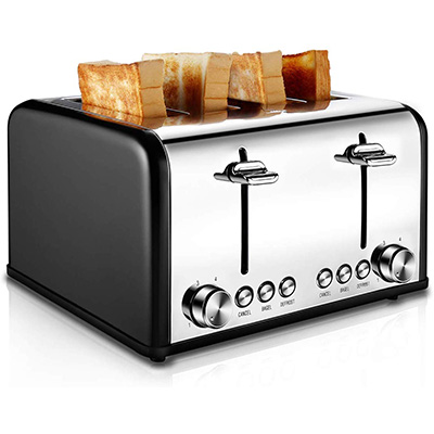 7. CUSIBOX 1650W Stainless Steel Toaster