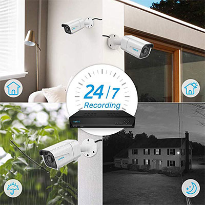 8. Reolink 4K PoE Security Camera System, 8MP 8-Channel NVR
